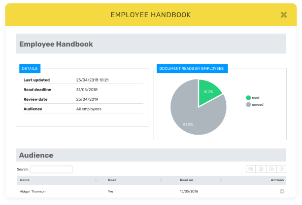 Breathe HR Software Example - Employee Handbook